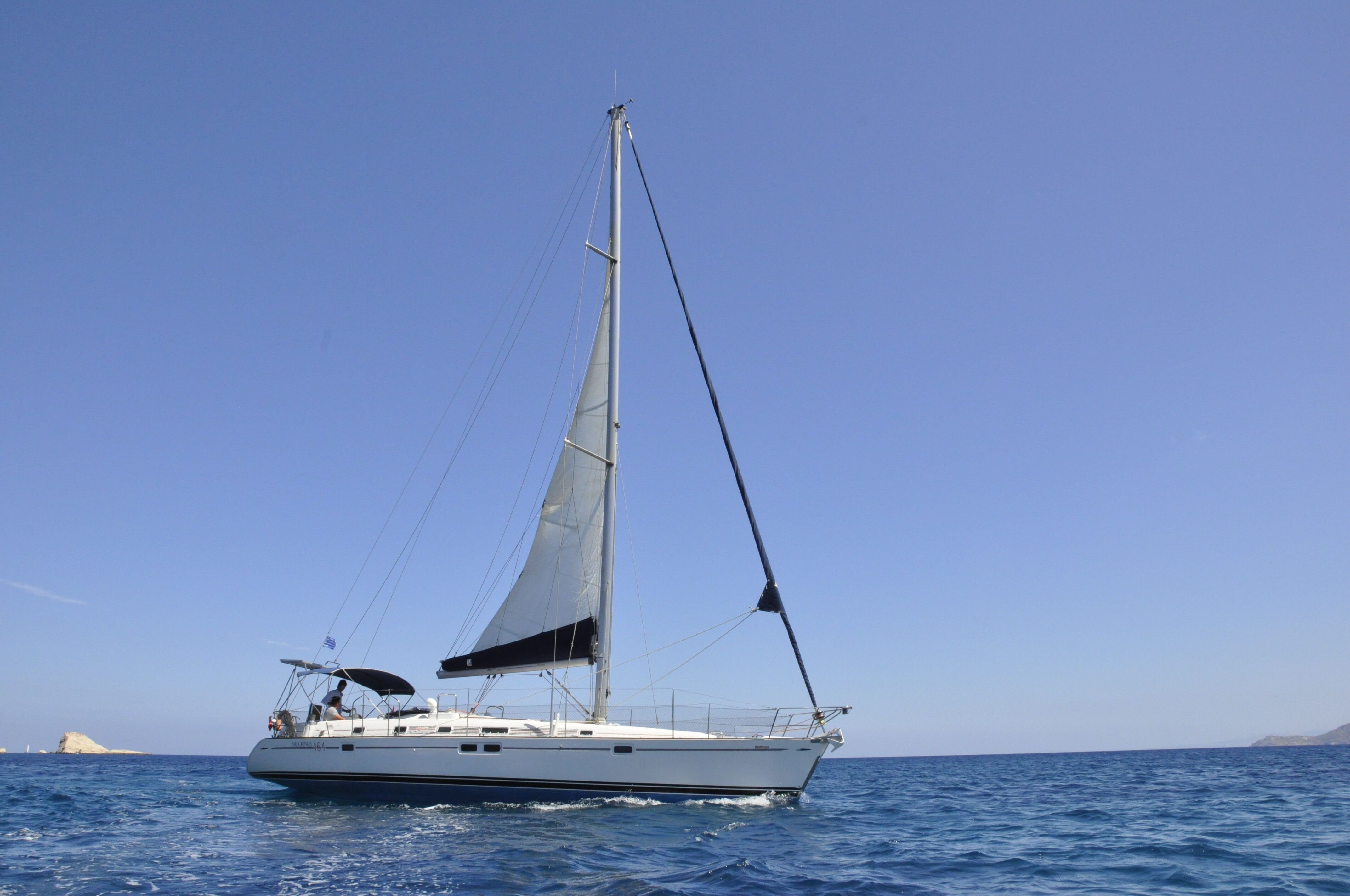 Private day trip with monohull sail yacht